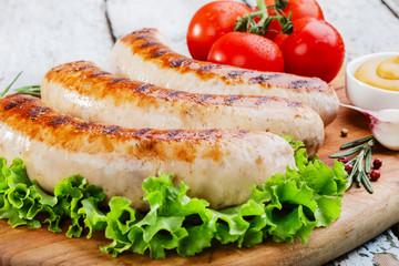Grilled chicken sausages