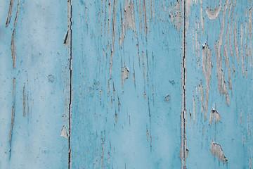 Holz Hintergrund alt, antik und abgenutzt in Blau