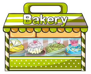 A green bakery store