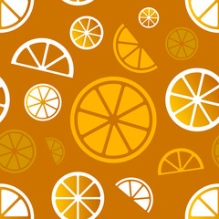 Vector seamless citrus pattern. Eps10