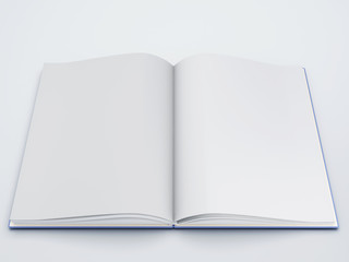 open book  with white pages 3d