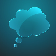 Vector glass callout cloud icon. Eps10