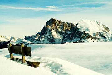 Winterlandschaft auf der Seiser Alm