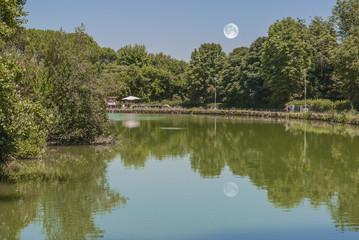lago con specchi di luna