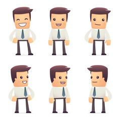 set of manager character in different poses
