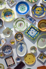 Traditional Portuguese handcrafted plates