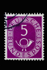 Posthorn_alte Deutsche Briefmarke 1
