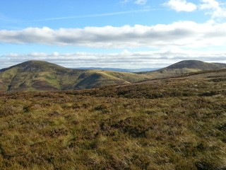 View from on top of the Pentlands
