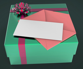 Gift Tag Shows Text Space And Copy-Space