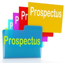 Prospectus Files Shows Folder Inform And Business