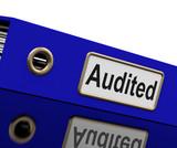 Audited Audit Indicates Auditor Verification And Binder poster