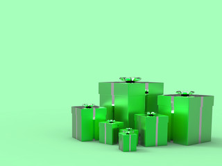 Copyspace Birthday Indicates Gift-Box Celebrate And Blank