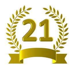 Twenty One Means Happy Birthday And 21