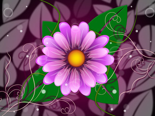 Floral Background Indicates Template Florist And Petal