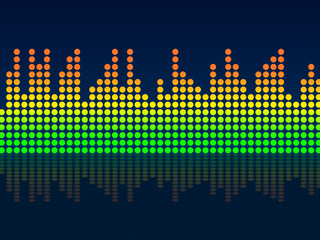 Equaliser Background Indicates Text Space And Acoustic
