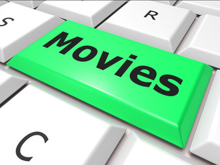 Online Movies Means World Wide Web And Film