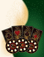 Poker banner, vector illustration