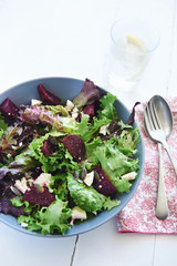lunch salad with beetroot and feta
