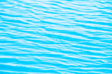 Blue Tones Water Waves Surface as Background