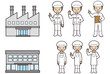 工場と作業員