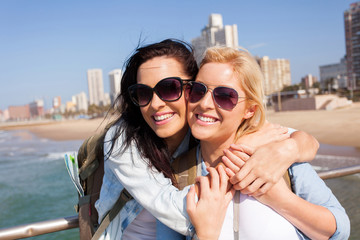 two friends touring Durban, south africa