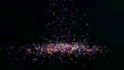 Falling Small Colorful Particles Loop