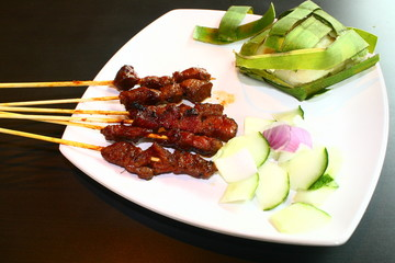 Satay, Singapore food, Malay Asia dish, BBQ