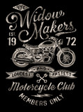 Hand Painted Vintage Motorcycle Graphic - 67067736