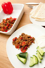Indian cuisine pepper minced meat masala