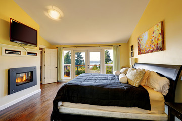 Luxury master bedroom inteiror