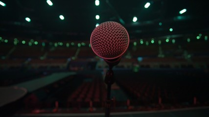 Microphone from the stage to empty auditorium before concert