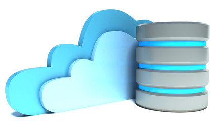 Cloud computing and remote data storage concept