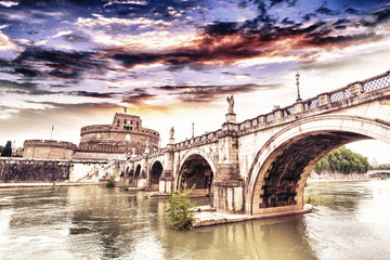 Castel St. Angelo Bridge, Rome