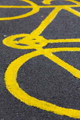 Bicycle Sign on the Ground