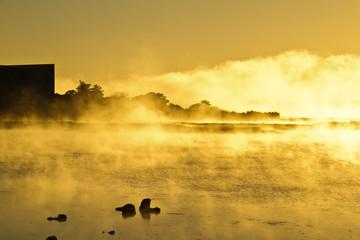 Lake Rotomahana in the morning,Rotorua, New Zealand