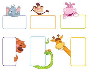 Baby animal banner