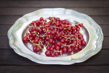 Red Currants on a plate