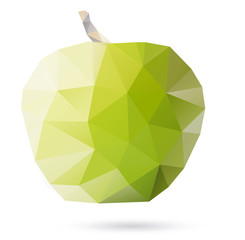 Polygon abstract illustration if apple