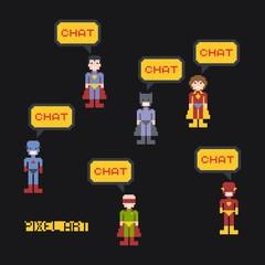 cartoon pixel art character