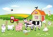 Bauernhoftiere carton