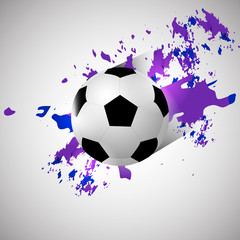 Grunge soccer/football ball background