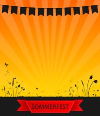 Wiese Wimpel Sommerfest