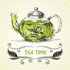 teapot green tea