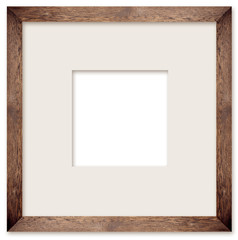 natural square wooden photo frame