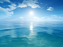 błękitne niebo ocean