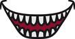 canvas print picture - Hässlicher grinsender lachender Monster Mund