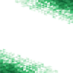 Abstract background with green crystals