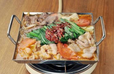 モツ鍋と湯気-3