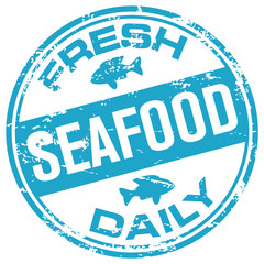 seafood rubber stamp