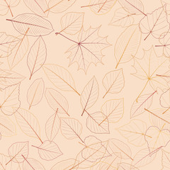 Seamless color leaves pattern. plus EPS10